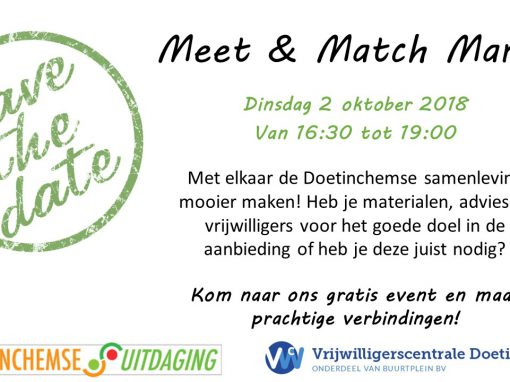 Meet & Match Markt 2018 save the date