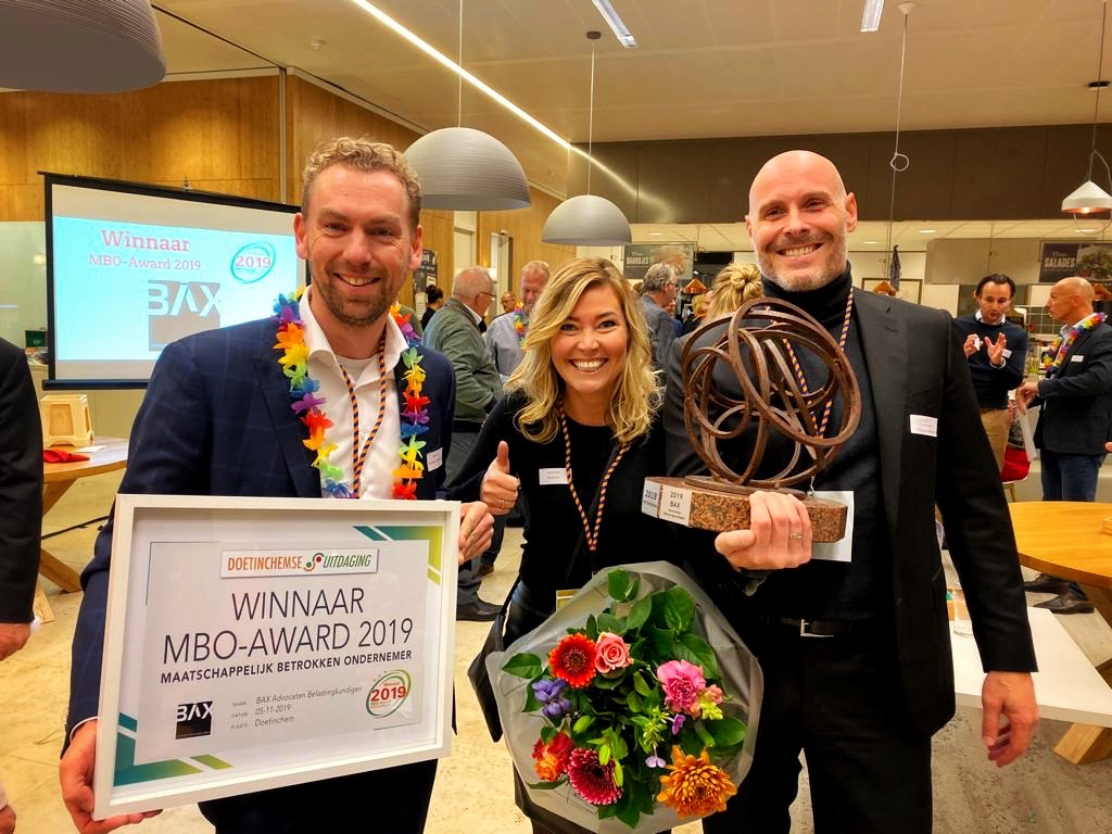 BAX winnaar MBO Award 2019